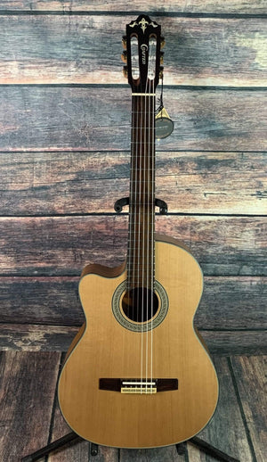 Crafter Classical Guitar Crafter Left Handed CE15/N Acoustic Electric Classical Cutaway Guitar- B -Stock