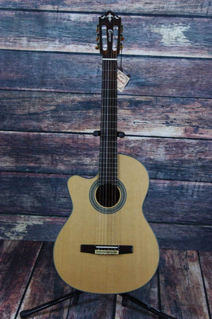 Crafter Classical Guitar Guitar Only Crafter Left Handed CE15/N Acoustic Electric Classical Cutaway Guitar