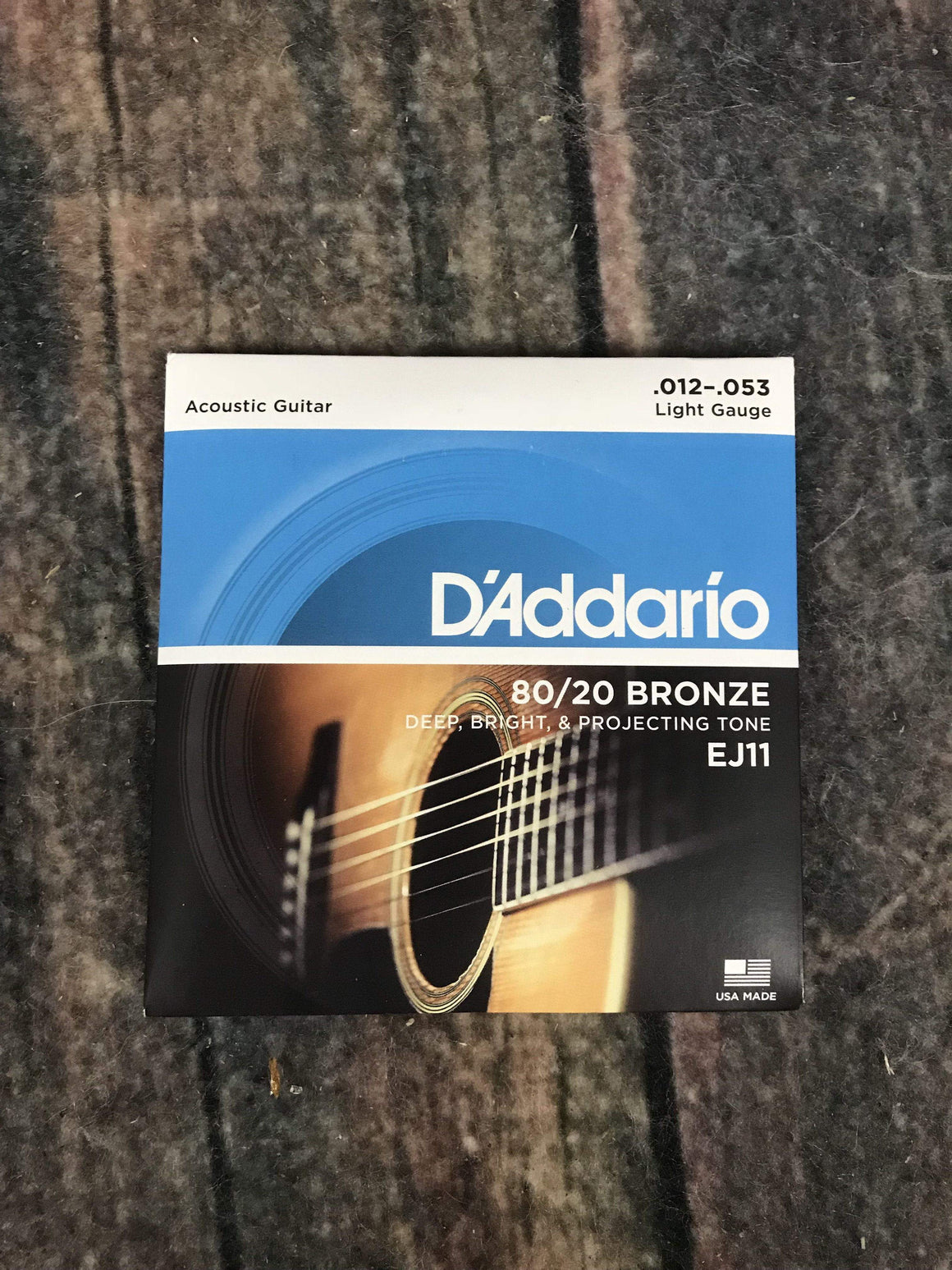 D'Addario Acoustic Guitar Strings D'Addario EJ11 80/20 Bronze Light Gauge Acoustic Guitar Strings