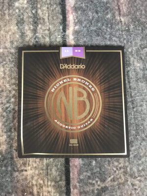 D'Addario Acoustic Guitar Strings D'Addario NB1152 Nickel Bronze Custom Light Acoustic Guitar Strings