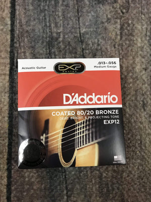 D'Addario Acoustic Guitar Strings Default Title D'Addario EXP12 80/20 Bronze Coated Medium .13-.56 Gauge Acoustic Guitar Strings