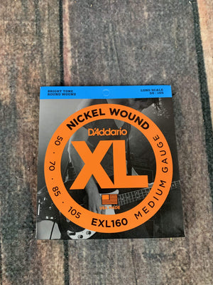 D'Addario Bass Strings D'Addario EXL160 Medium 50-105 Nickel Wound 4 String Long Scale Bass Guitar Strings