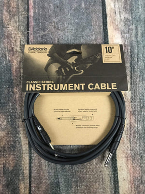 D'Addario Cable D'Addario Planet Waves 10ft Classic Instrument Cable Straight-Angle