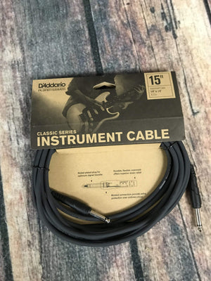 D'Addario Cable D'Addario Planet Waves 15ft Classic Instrument Cable Straight-Straight