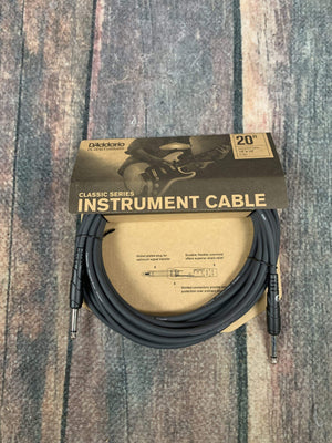 D'Addario Cable D'Addario Planet Waves 20ft Classic Instrument Cable Straight-Straight