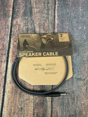 D'Addario Cable D'Addario Planet Waves PW-CSPK-03 3 ft Classic Speaker Cable Straight-Straight