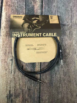D'Addario Cable Default Title D'Addario Planet Waves 5ft Classic Instrument Cable Straight-Straight