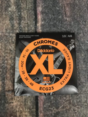 D'Addario Electric Guitar Strings D'Addario ECG23 Chromes Flatwound Extra Light 10-48 Electric Guitar Strings