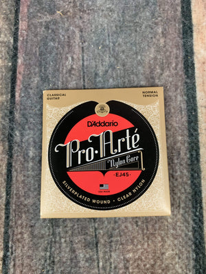 D'Addario Strings D'Addario EJ45 Pro-Arté Nylon, Normal Tension Classical Guitar Strings