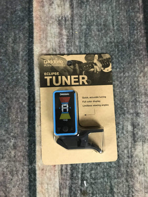 D'Addario Tuner D'Addario Eclipse PW-CT-17BU Clip-On Headstock Tuner- Blue