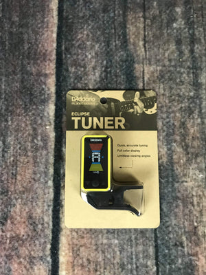 D'Addario Tuner D'Addario Eclipse PW-CT-17YL Clip-On Headstock Tuner- Yellow