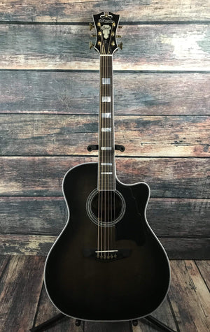 D'Angelico Acoustic Guitar D'Angelico Excel Gramercy Acoustic Electric Guitar- Grey Black