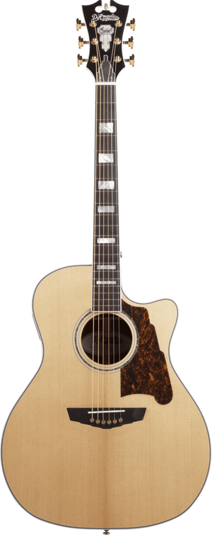 D'Angelico Acoustic Guitar D'Angelico Excel Gramercy Acoustic Electric Guitar- Natural