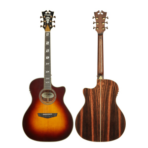 D'Angelico Acoustic Guitar D'Angelico Excel Gramercy Acoustic Electric Guitar- Vintage Sunburst