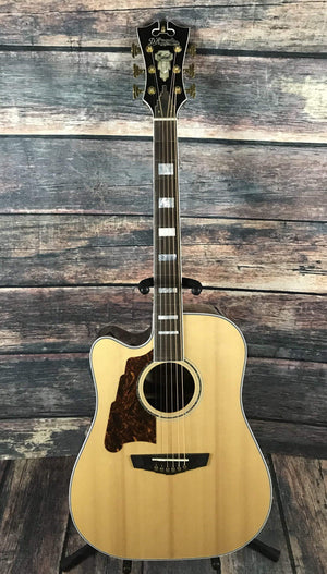 D'Angelico Acoustic Guitar D'Angelico Left Handed Excel Bowery Acoustic Electric Guitar