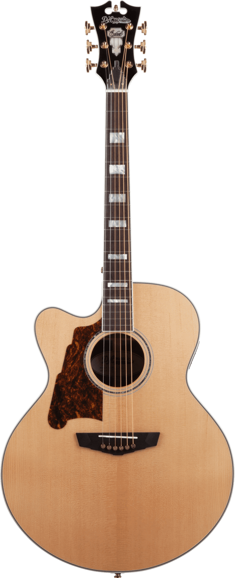 D'Angelico Acoustic Guitar D'Angelico Left Handed Excel Madison Jumbo Acoustic Electric Guitar