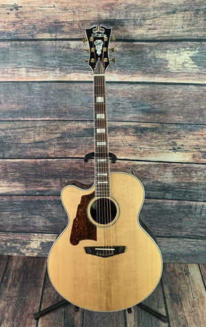 D'Angelico Acoustic Guitar D'Angelico Left Handed Excel Madison Jumbo Acoustic Electric Guitar with Case