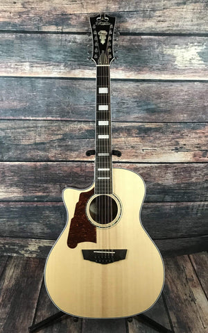 D'Angelico Acoustic Guitar D'Angelico Left Handed Premier Fulton 12 String Acoustic Electric Guitar