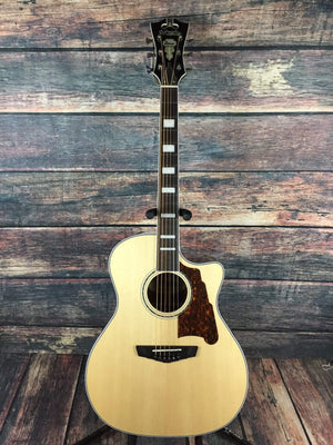 D'Angelico Acoustic Guitar D'Angelico Premier Gramercy Acoustic Electric Guitar- Natural
