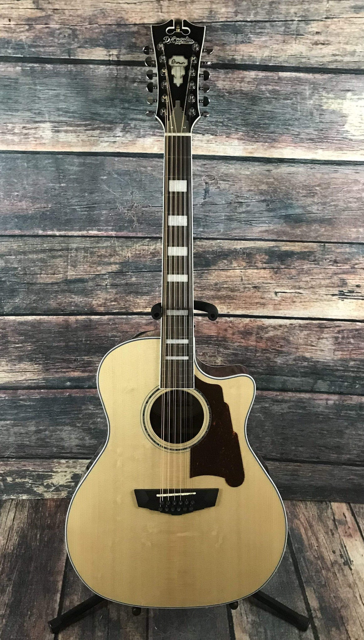 D'Angelico Acoustic Guitar D'Angelico Right Handed Premier Fulton 12 String Acoustic Electric Guitar- Natural