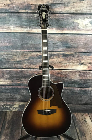D'Angelico Acoustic Guitar D'Angelico Right Handed Premier Fulton 12 String Acoustic Electric Guitar- Sunburst