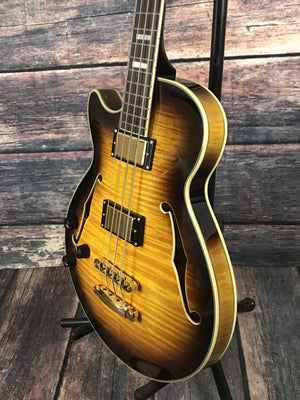 D'Angelico Electric Bass Default Title D'Angelico Left Handed Excel ArchTop Electric Bass with Case - Sunburst