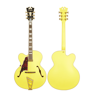 D'Angelico Electric Guitar D'Angelico Left Handed Deluxe EXL-1 Electric Guitar- Matte Electric Yellow