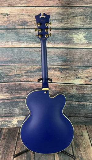 D'Angelico Electric Guitar D'Angelico Left Handed Deluxe EXL-1 Electric Guitar- Matte Royal Blue