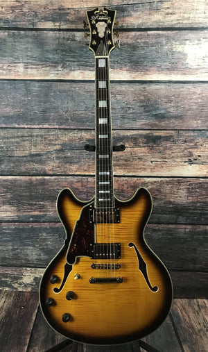 D'Angelico Electric Guitar D'Angelico Left Handed Excel DC VSB Semi Hollow Electric Guitar