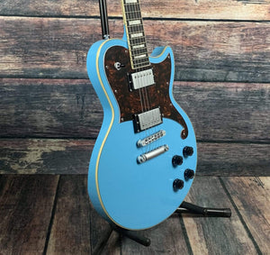 D'Angelico Electric Guitar D'Angelico Premier Atlantic Brandon Niederauer Solid Body Electric Guitar- Sonic Blue
