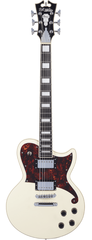 D'Angelico Electric Guitar D'Angelico Premier Atlantic Solid Body Electric Guitar- Antique White