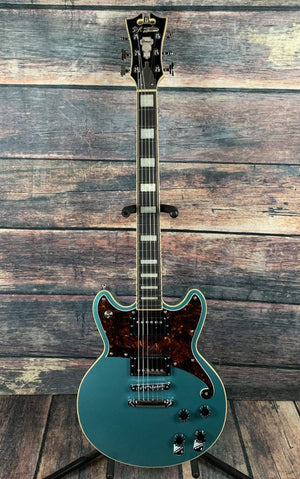D'Angelico Electric Guitar D'Angelico Premier Brighton Double Cutaway Electric Guitar - Ocean Turquoise