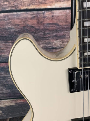 D'Angelico Electric Guitar D'Angelico Premier DC Semi-Hollow Electric Guitar- Champagne Stair Step TailPiece