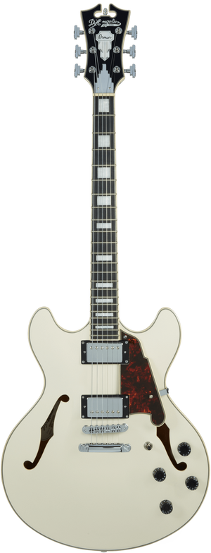 D'Angelico Electric Guitar D'Angelico Premier DC Semi-Hollow Electric Guitar- Champagne Stop TailPiece