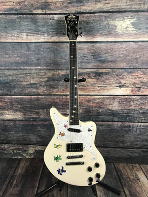 D'Angelico Electric Guitar D'Angelico Premier Greatful Dead Bedford Solid Body Electric Guitar