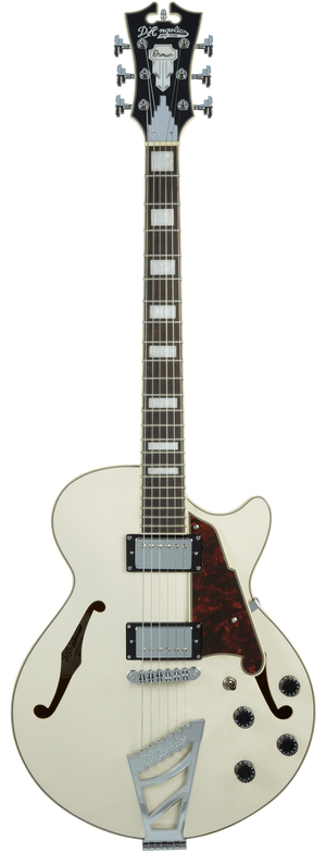 D'Angelico Electric Guitar D'Angelico Premier SS Semi-Hollow Electric Guitar- Champagne Stair Step TailPiece