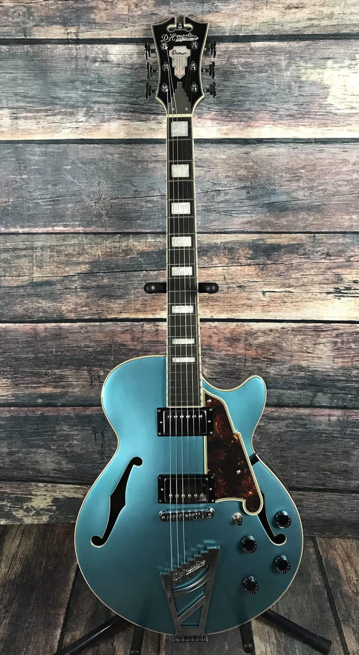 D'Angelico Electric Guitar D'Angelico Premier SS Semi Hollow Electric Guitar- Ocean Turquoise