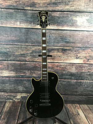 D'Angelico Electric Guitar With a Padded Gig Bag D'Angelico Left Handed Premier SD Electric Guitar - Black