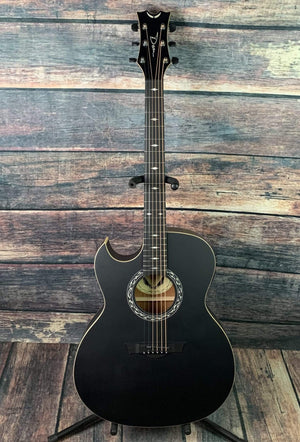 Dean Acoustic Guitar Dean Left Handed Exhibition Black Acoustic Electric Guitar