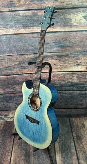 Dean Acoustic Guitar Dean Left Handed Exhibition FM FD Acoustic Electric Guitar