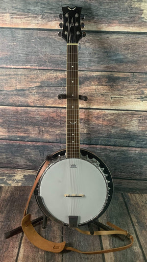 Dean Banjo Used Dean Backwoods 6 String Banjo with Gig Bag