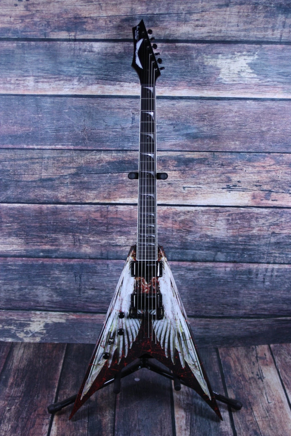 Dean Electric Guitar Dean Left Handed Dave Mustaine AOD Angel of Deth V Electric Guitar with case