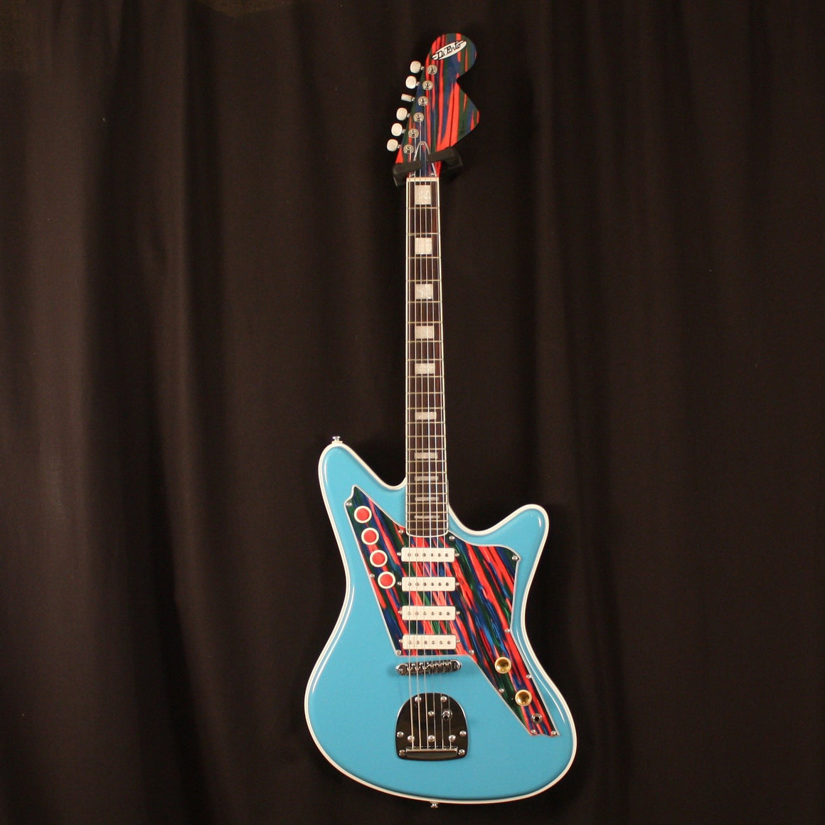 Dipinto Electric Guitar DiPinto Right Handed Galaxie IV Deluxe Electric Guitar Sonic Blue/Serape