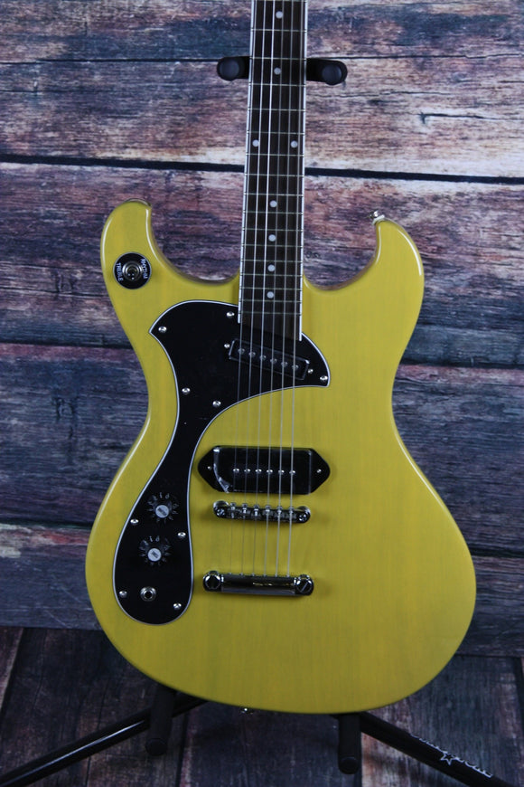 Dipinto Electric Guitar With a hard shell case Dipinto Left Handed Melody Mach TV Yellow Electric Guitar
