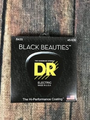 DR Strings Electric Guitar Case DR Strings BKB-45 Black Beauties 4 String 145-105 Gauge Coated Electric Bass Strings