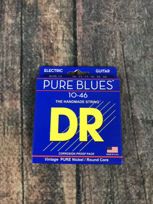 DR Strings Electric Guitar Case DR Strings PHR-10 Pure Blue 10-46 Gauge Electric Guitar Strings