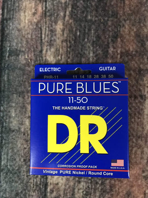 DR Strings Electric Guitar Case DR Strings PHR-11 Pure Blue 11-50 Gauge Electric Guitar Strings