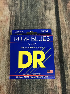 DR Strings Electric Guitar Case DR Strings PHR-9 Pure Blue 9-42 Gauge Electric Guitar Strings