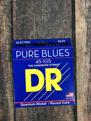 DR Strings Strings DR Strings PB-45 Pure Blues 4 String 45-105 Gauge Electric Bass Strings