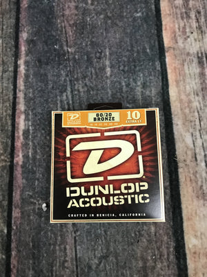 Dunlop Acoustic Guitar Strings Dunlop DAB1048 Extra Light 80/20 Bronze Acoustic Guitar Strings
